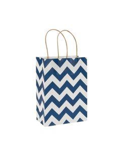 Blue Chevron Gift Bags