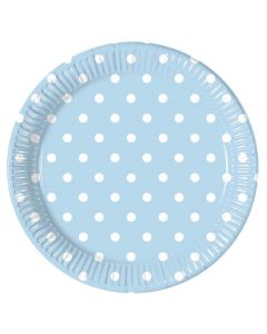 Blue Dots Lunch Plate