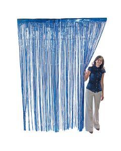 Blue Foil Fringe Curtain
