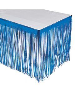 Blue Fringe Table Skirt