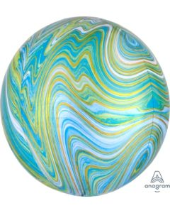 Blue and Green Marble Orbz Balloon