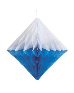 Blue Hanging Diamond Honeycomb Decorations