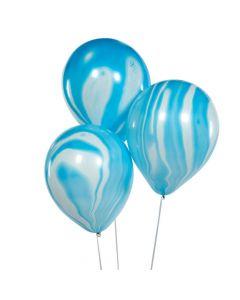 Blue Marble Latex Balloons