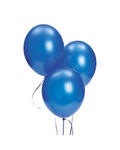 "Blue Metallic 11"" Latex Balloons"