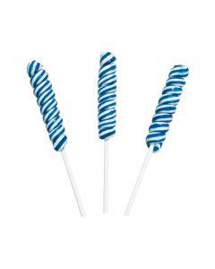 Blue Mini Twisty Lollipops