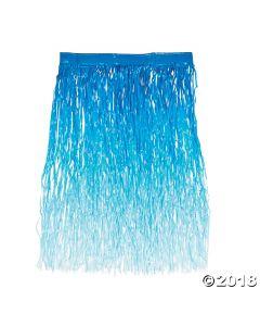 Blue Ombre Grass Hula Skirt