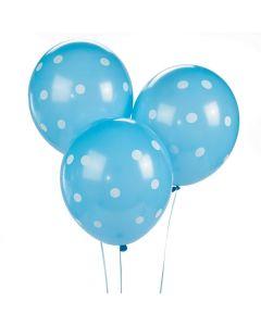Blue Polka Dot Latex Balloons
