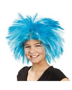 Blue Spiky Wig