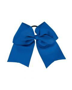 Blue Team Spirit Hair Bow