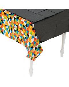 Bold Grad Plastic Tablecloth
