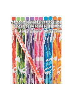 Bright Camouflage Pencil Assortment