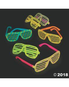 Bright Colour Glow-in-the-dark Shutter Glasses
