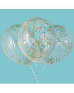 """Bright Confetti 12"""" Latex Balloons"""