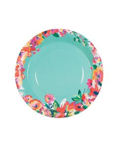 Bright Floral Dinner Plates