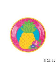 Bright Pineapple Paper Dessert Plates