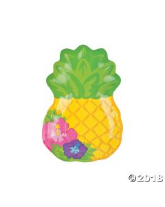 Bright Pineapple Paper Lunch Plate