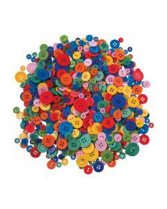 Bright Rainbow Craft Buttons