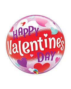 Bubble Valentine's Day Hearts Balloon