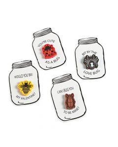 Bug Jar Eraser Valentine Cards