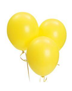 "Bulk Citrine Yellow 11"" Latex Balloons"