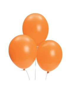 "Bulk Orange 11"" Latex Balloons"