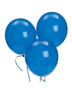 "Bulk Sapphire Blue 11"" Latex Balloons"