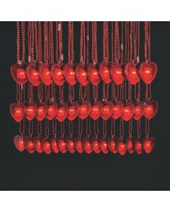 Bulk Valentine Necklaces with Light-Up Heart