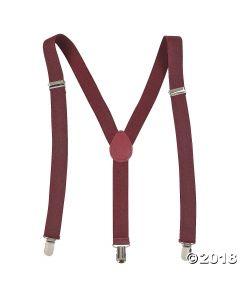 Burgundy Team Spirit Suspenders