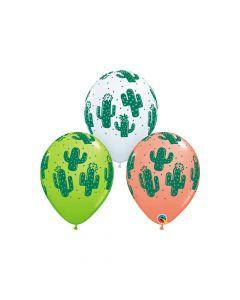 "Cactus Print 11"" Latex Balloons"