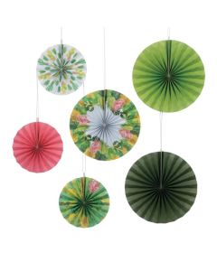 Cactus Shower Hanging Paper Fan Decorations