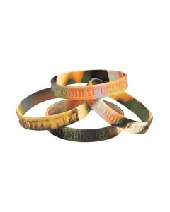 Camouflage Army Sayings Rubber Bracelets