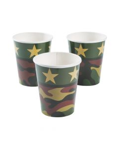 Camouflage Paper Cups