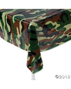 Camouflage Plastic Tablecloth