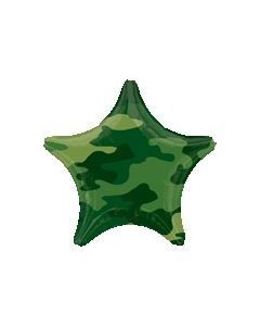 Camouflage Star Foil Balloon