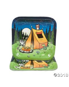 Camp Adventure Paper Lunch Plates