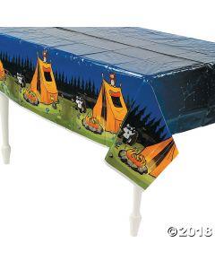 Camp Adventure Plastic Tablecloth