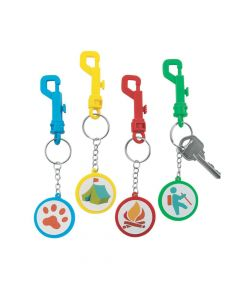 Camp Backpack Clip Keychains