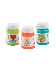 Camp Mini Bubble Bottles