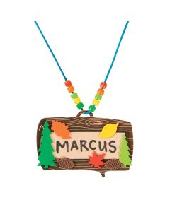 Camp Name Tag Necklace Craft Kit