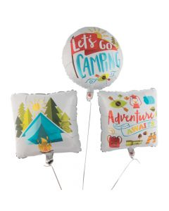 Camp Party Mylar Balloons