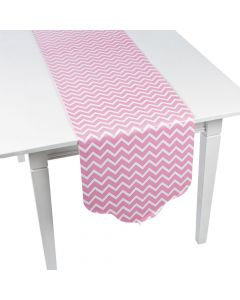 Candy Pink Chevron and Polka Dot Table Runner