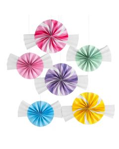 Candy World Paper Hanging Fans