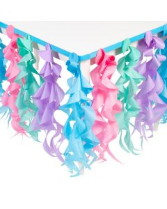 Candy World Pastel Swirl Table Skirt