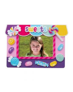 Candy World Picture Frame Magnet Craft Kit