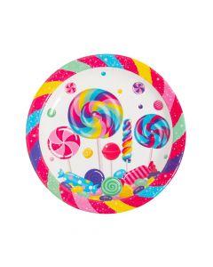 Candyworld Paper Dinner Plates