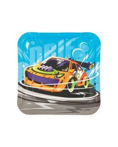 Car and Trucks Paper Dinner Plates