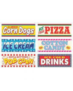 Carnival Sign Cutouts