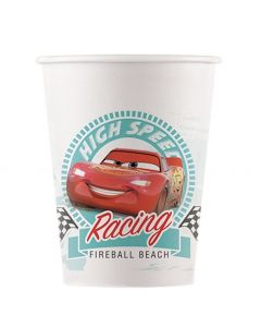 Cars High Speed Paper Cups 200ML - Eco Friendly