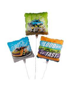 Cars and Trucks Mylar Balloons
