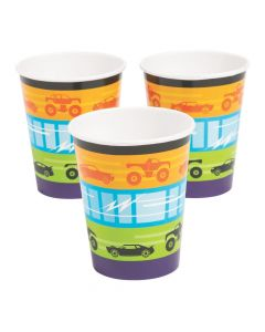 Cars and Trucks Paper Cups